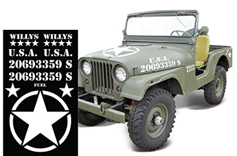 Amazon Com Military Decal Set Willy S Sticker Compatible With Jeep