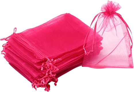 100 Pcs Mini Gift Bags Pouches Organza Jewelry Drawstring Bag For Wedding Party