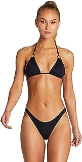 product image for Vitamin A Women's Black EcoRib Cosmo Sliding Triangle Bikini Top