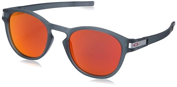 c59c69bab7928 Oakley - anteojos de sol ovaladas de iridio no polarizadas para hombre,  cuadrÃcula de vidrio