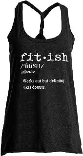 771073e8d27535 IRISGOD Womens Workout Tank Tops Summer Graphic Twisted Back Gym Sleeveless  Tshirt Tops