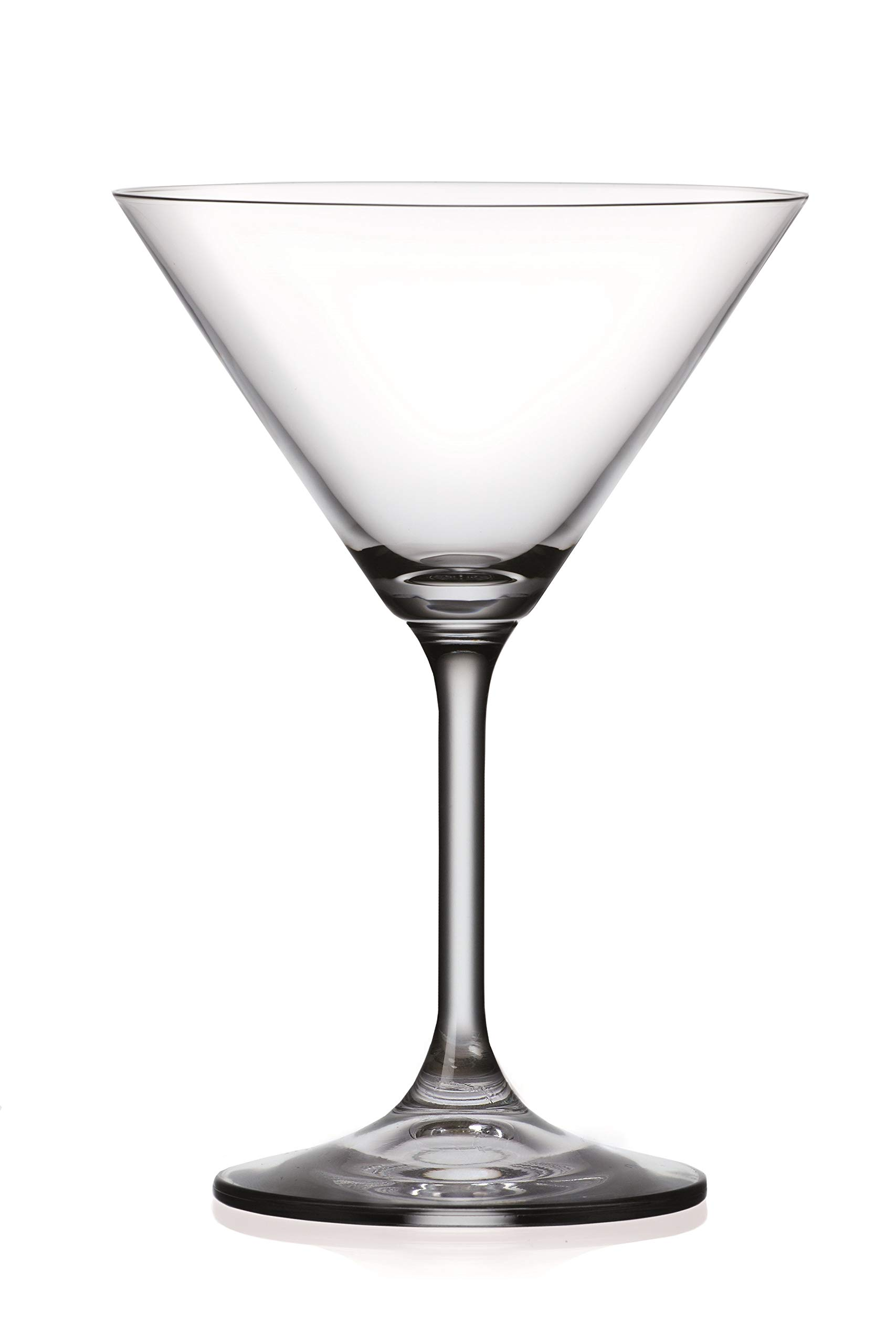 Martini - Glasses - Classic Clear Glass - Lead Free - Set of 6 - by Barski - Made in Europe - 8 oz.