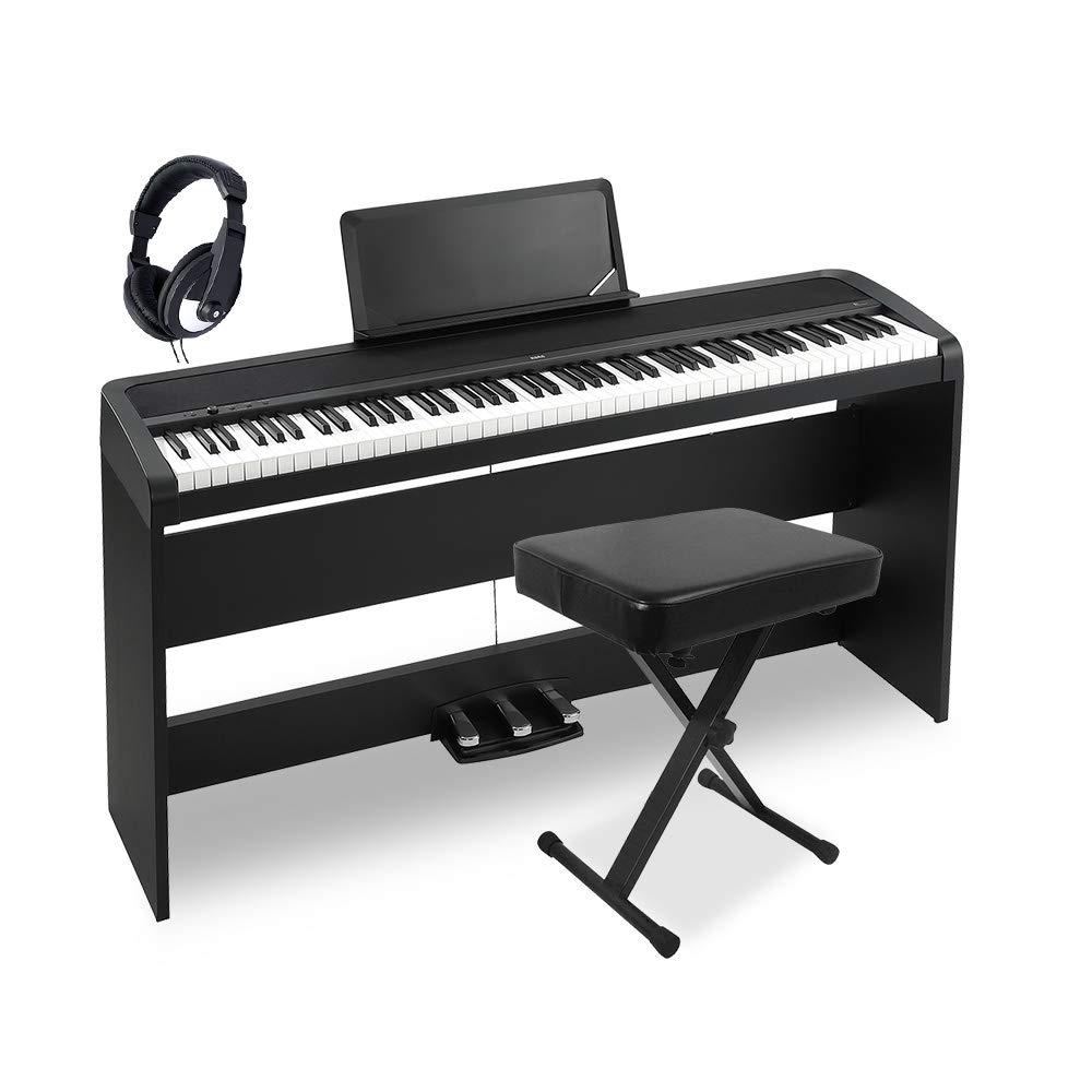 安い購入 KORG BK B1SP BK X型イスヘッドホンセット KORG 88鍵盤 電子ピアノ 88鍵盤 コルグB07867SDCR, MADUREZ(マドゥレス):d397c8d3 --- a0267596.xsph.ru