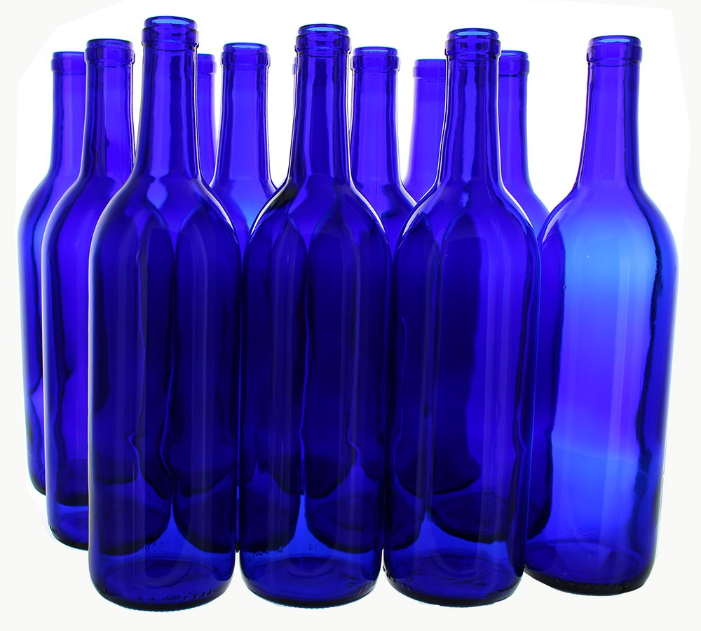 Home Brew Ohio 6 Gallon Bottle Set: Cobalt Blue Claret/Bordeaux (36 Bottles)