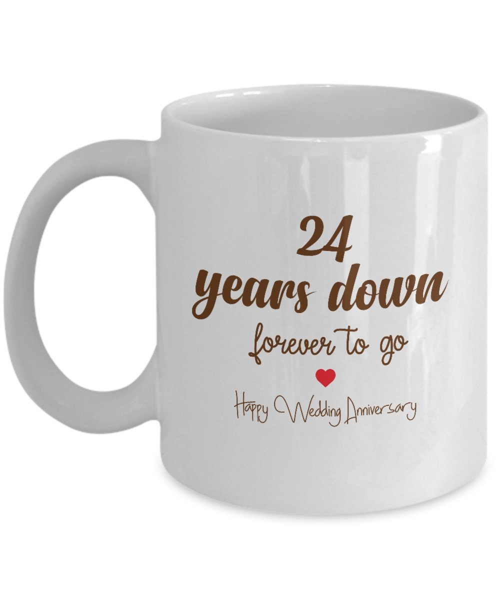 Amazon 24th Wedding Anniversary Gifts 24 Years Down Forever