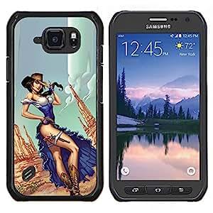 Stuss Case / Funda Carcasa protectora - Jambes Robe Canyon Gun - Samsung Galaxy S6Active Active G890A