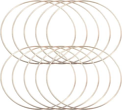 2 anelli in metallo acchiappasogni fai da te utilizzati per fai da te fare acchiappasogni Cerchi Macram/è 10 cm