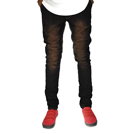 dcd2701d4a TOI Black Jeans with Golden Shades Denim Slim Fit Stretchable Jeans ...