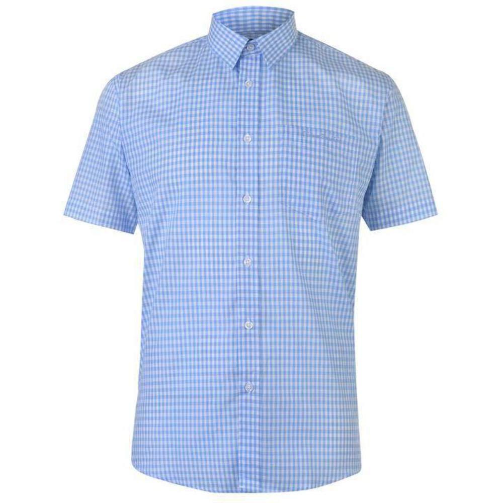 TALLA S. Pierre Cardin - Camisa Casual - con Botones - con Botones - Manga Corta - para Hombre