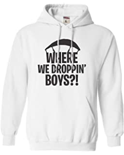 Go All Out Adult Where We Droppin Boys Sweatshirt Hoodie