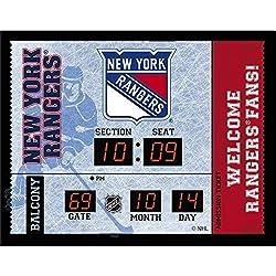 Team Sports America New York Rangers Bluetooth Scoreboard Wall Clock