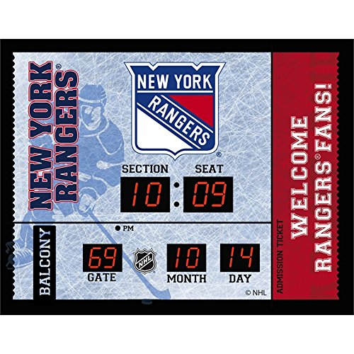 - Team Sports America New York Rangers Bluetooth Scoreboard Wall Clock