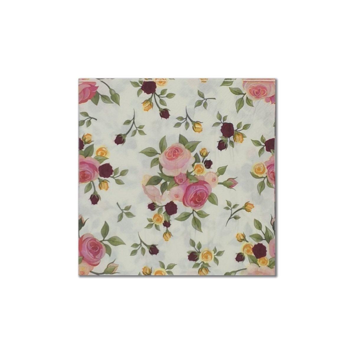 Printed Disposable Paper Napkins 3 Assorted Designs, 20-Count Each, Total: 60-Count