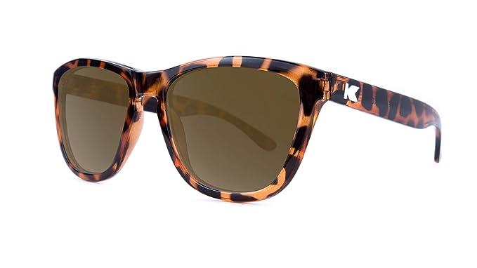 Knockaround Gafas de sol polarizadas de las primas Glossy Tortoise Shell/Amber
