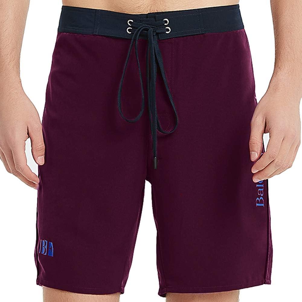 BALCONY & FALCON Board Shorts Men's Swimwear Hawaiian Swim Trunks Summer Shorts Quick Dry Watershorts