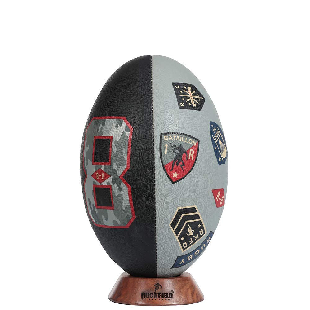 Ruckfield - Ballon rugby army - Beige