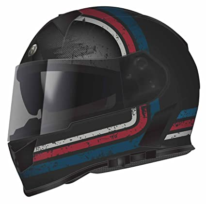 Torc T14 Streamline Mako Full Face Helmet (Blue/Red/Grey with Graphic,