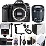 Canon EOS 80D 24.2MP Digital SLR Camera with 18-55mm EF-IS STM Lens , SF-4000 Slave Flash and Accessory Kit