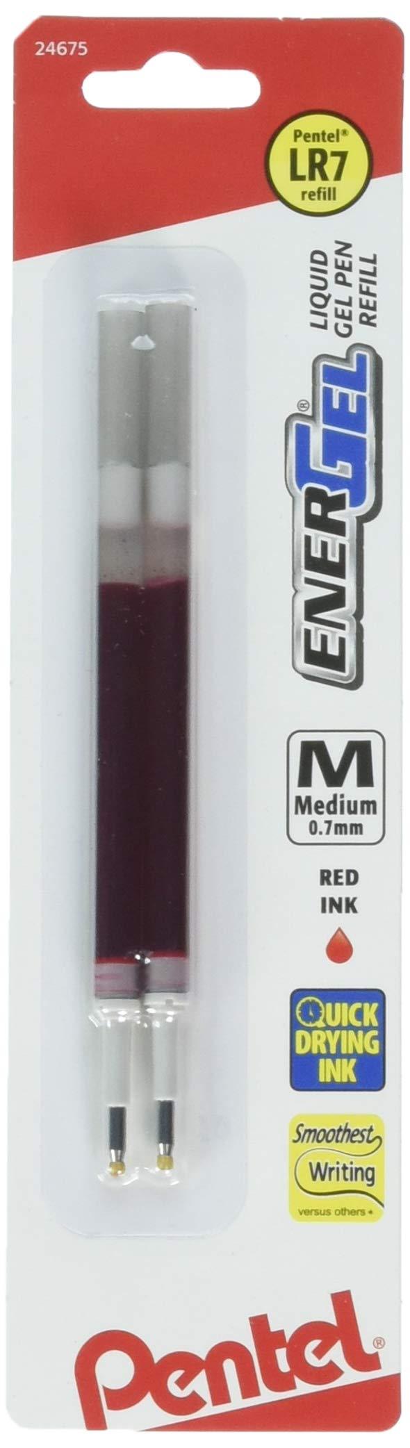 Recarga Tinta Pentel 0.7mm Rojo (LR7BP2B) [2un.]