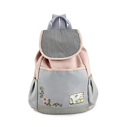 427a408c70ee Amazon.com: Canvas Backpack Female Korean Version of The Tide ...