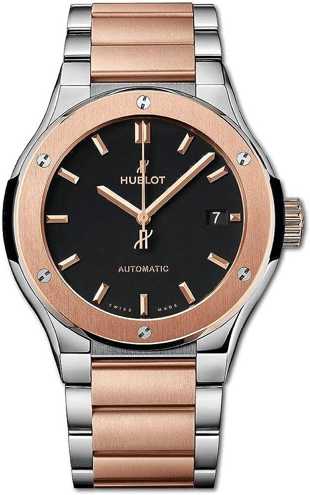 Hublot 510.NO.1180.NO - Reloj de pulsera (titanio, oro rosa, 45 mm)