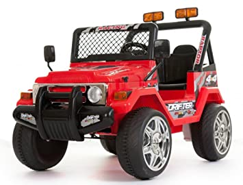 Red 4 X 4 Jeep Powerful 12 V Twin Motor Electric Kids Childrens