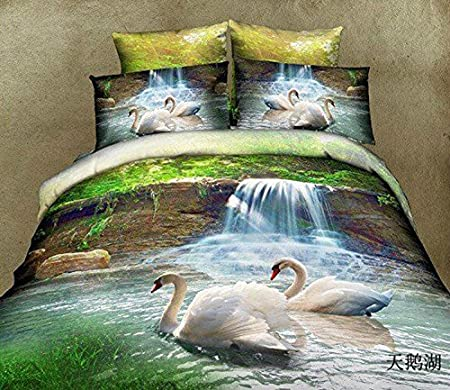 3D el lago de los cisnes 6 funda nórdica perfectdarts colcha