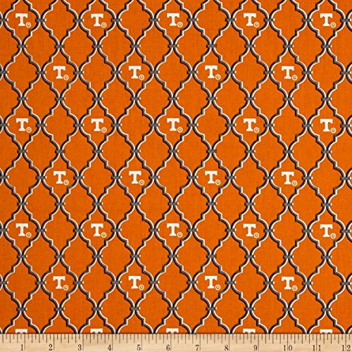 Sykel Enterprises NCAA University of Tennessee Trellis Logo Allover Orange Fabric By The Yard (Fabric Trellis)