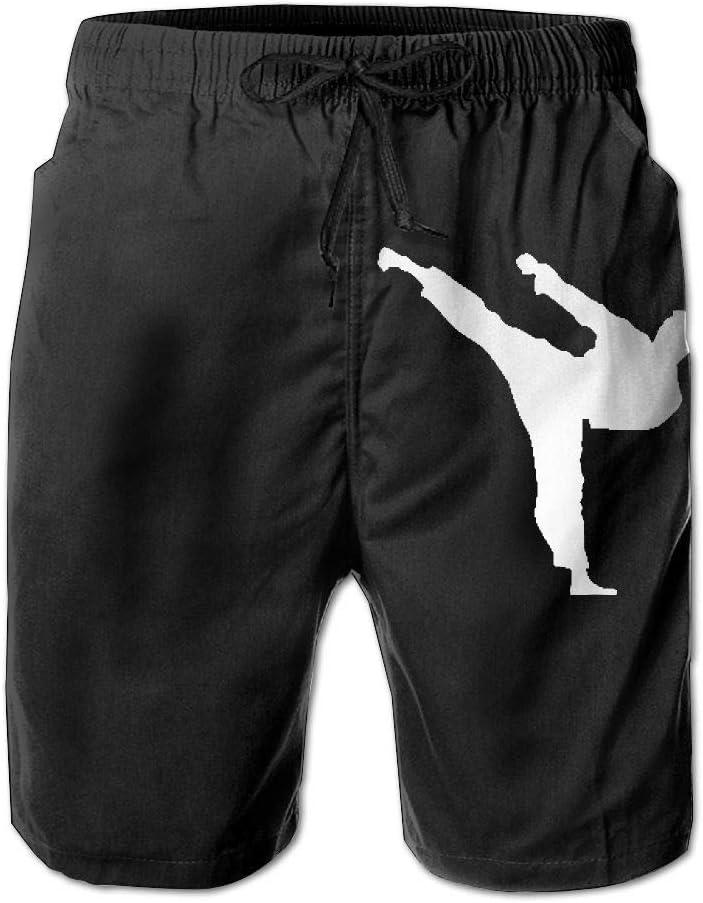 Jiu Jitsu Clip Art1 Mens Lightweight Beach Board Shorts Dry Fit Bathing Suit with Pockets