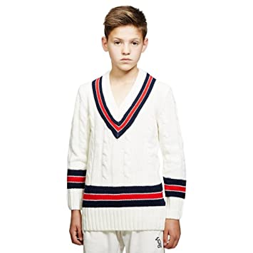 GM GUNN & MOORE Cricket Pullover, Navy/Sky