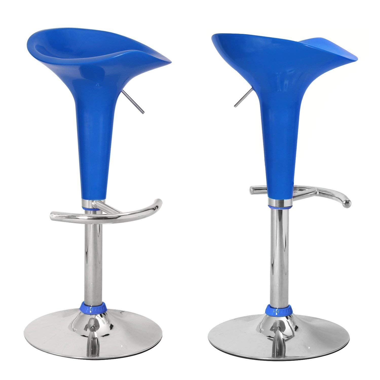 Superb Asense 24 31 Height Backless Modern Swivel Adjustable Bar Stools Chairs Blue Set Of Two Ibusinesslaw Wood Chair Design Ideas Ibusinesslaworg