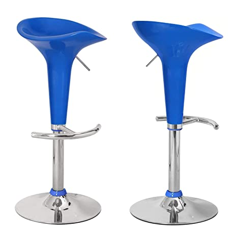 Stupendous Asense 24 31 Height Backless Modern Swivel Adjustable Bar Stools Chairs Blue Set Of Two Machost Co Dining Chair Design Ideas Machostcouk