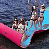 Goplus Floating Water Pad Mat for Lakes 3 Layer Floating Foam Fun Mat Aqua Pad with Tear-Stop Technology Designed for Water Recreation and Relaxing(18' x 6')