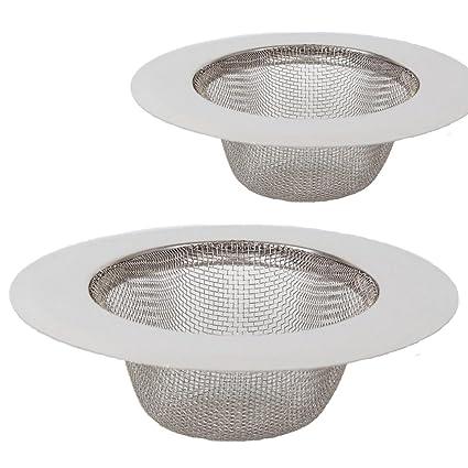 2 piezas de filtro de acero inoxidable,Mini colador del fregadero,Filtro del filtro del dren del fregadero del acero inoxidable,Filtro tamiz,Filtro de ...