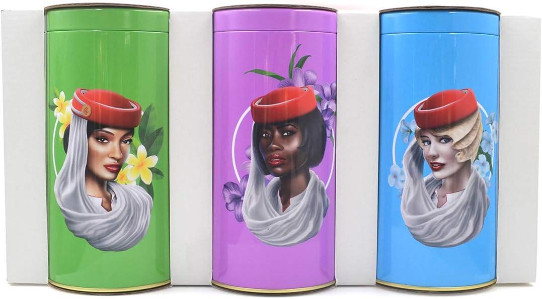 Kathyland Set of 3 Metal Food Storage Tin Canister/Jar/Container for Flour Sugar Coffee Tea Storage