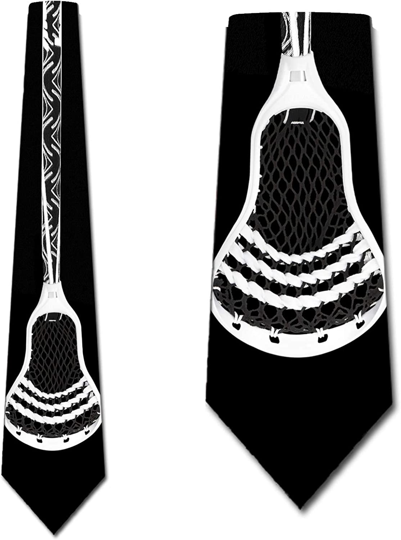 Lacrosse Ties Mens Sports Necktie Outdoor Tie by Three Rooker