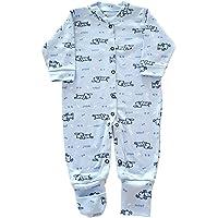 Macacão Pijama Bebê Suedine com vira pé