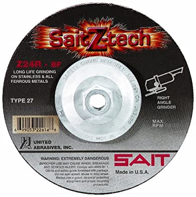 SAIT Type 27 Grinding Wheel, 25-Pack