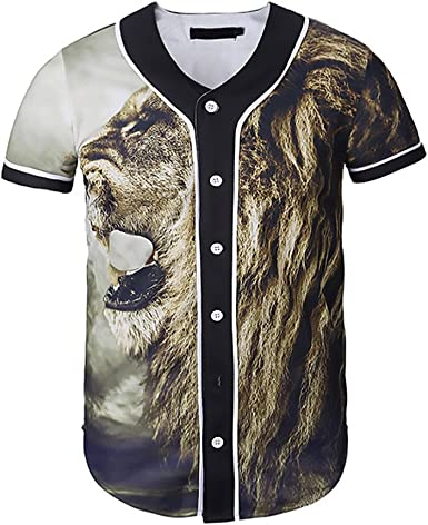 Camisa Manga Corta Hombre Originales Animal Estampado Camisas ...
