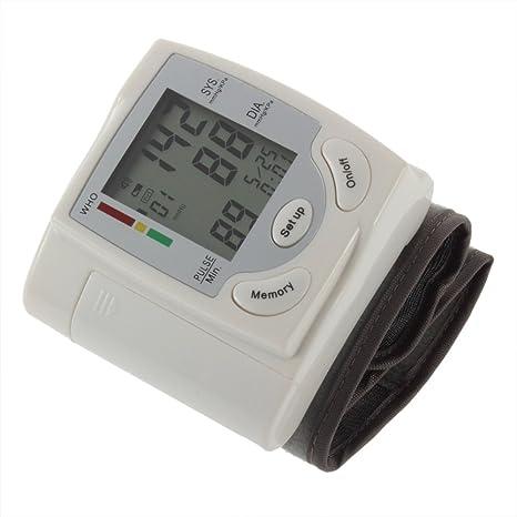 Missy vetty – Tensiómetro automático muñeca monitor corazón Batir tasa de pulso sphgmomanometer