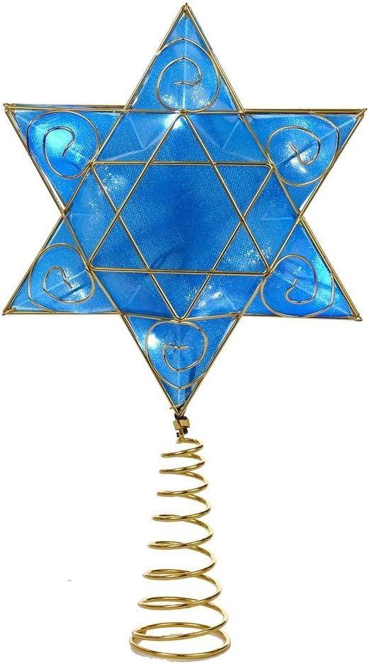 Kurt Adler Hanukkah Treetopper w/LED Lights Standard