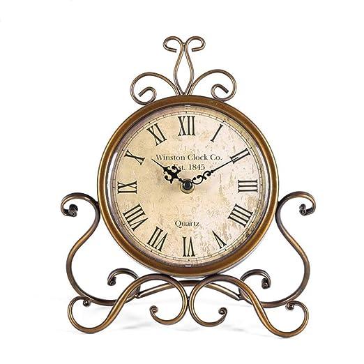 H-O Reloj de Mesa de 28 cm de Altura, silencioso, sin tictac ...