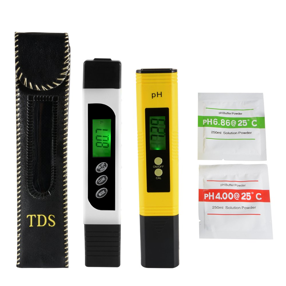 XCSOURCE 3in1 TDS+EC+Temp Meter and Ph Meter with Auto Calibration Button, Digital Accuracy Water Quality Monitor Pen Style Portable Tester BI716