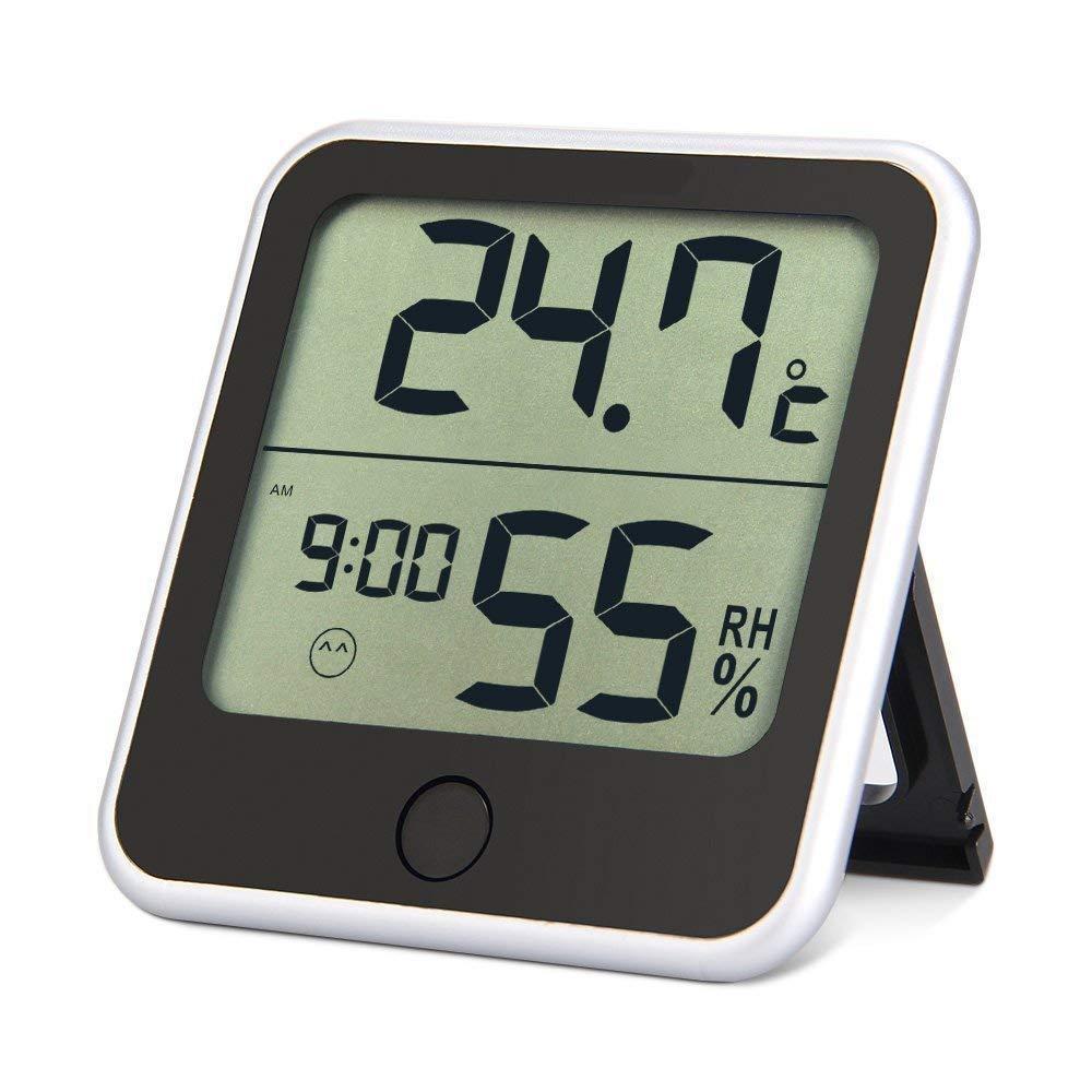 LHZTZKA Termo-igrometro, termometro Digitale Interno con Tempo in Camera da Letto, Ufficio per Bambino Adulto Adulto