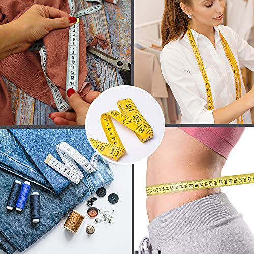 TACVEL 3 Pack Soft Tape Measure, Measuring Tape for Body Measurements, Double Scales Rulers (120in/300cm) for Sewing, Body, Tailor
