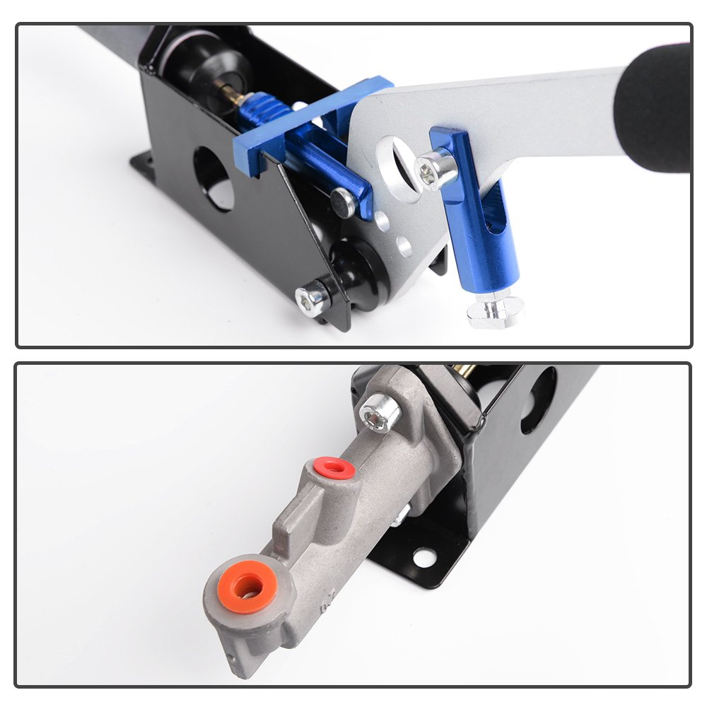 Hydraulic Handbrake Universal Ebrake Fit For Drift Track Rally Racing Emergency Parking E-Brake Adjustable Pre-Load /& Pin Locations Vertical Horizontal Position With Anti-Slip Sponge Handle Blue