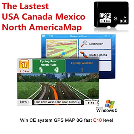 Amazon.com: FidgetKute 8GB Car GPS Map Micro SD Card USA ... on