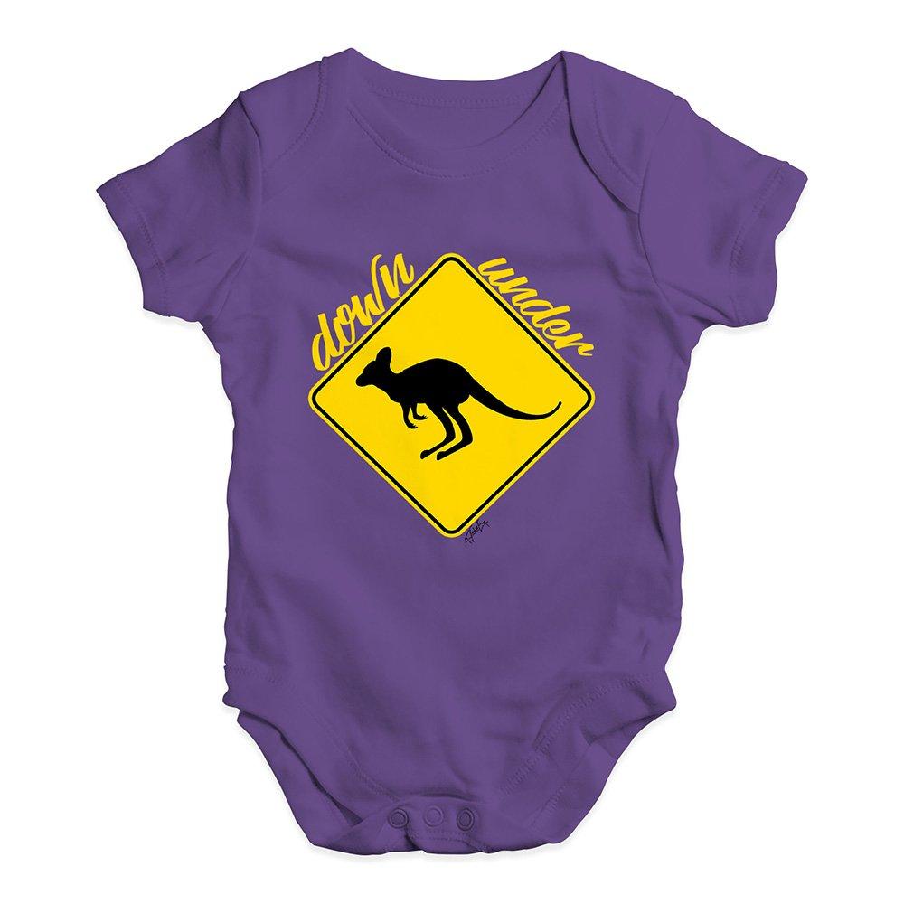 TWISTED ENVY Kangaroo Down Under Baby Unisex Printed Infant Bodysuit Baby Grow