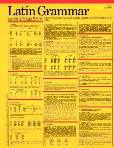 Latin Grammar (Grammar Card Guides)