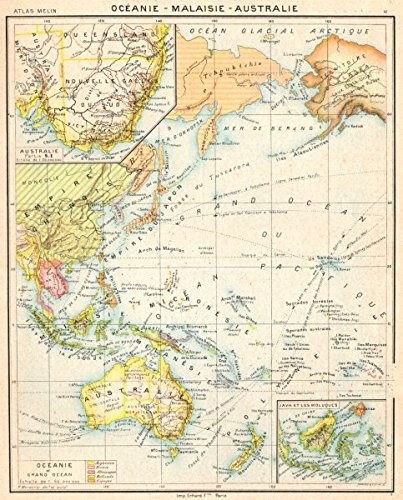 Australia Map 1900.Amazon Com Oceania Australia Australie Oceanie Inset